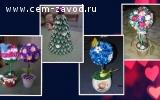 Цветы из атласных лент на ЗАКАЗ...