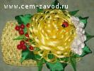 Цветы из атласных лент на ЗАКАЗ