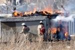 Пожар на поляне за АЦЕИДом