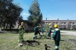 Работники цемзавода участвуют в экологическом субботнике. Фото_1